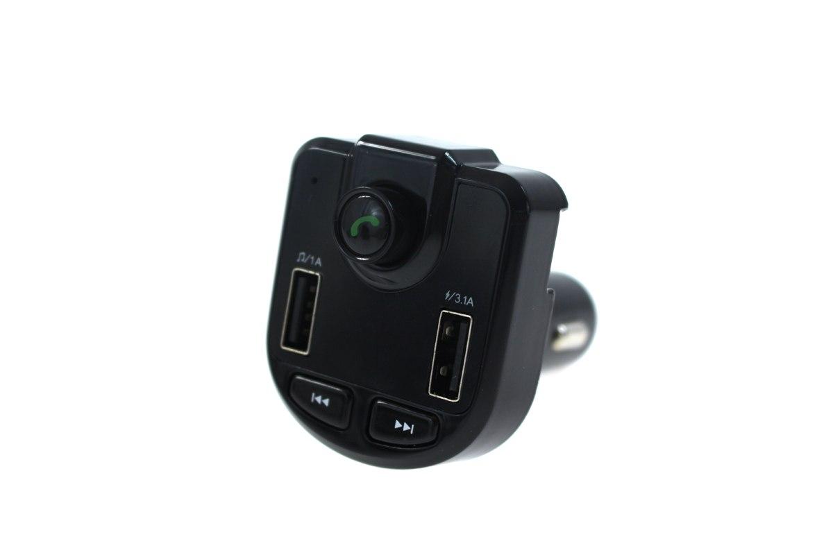 Transmiter FM Bluetooth 12-24V 2xUSB 3.1A Woltomierz - GRUBYGARAGE - Sklep Tuningowy